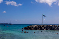 Children enjoy the sea at Nanny Cay