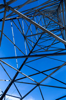 Looking up an electricty pylon