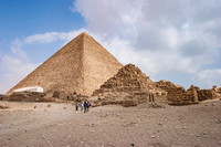The great pyramid of Khufu (Cheops), and the pyramids of Queens.