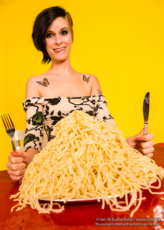 Woman and Spaghetti