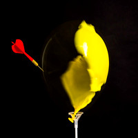 Yellow Balloon Bursting