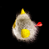 Bursting a water balloon