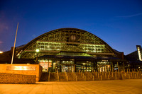 Manchester Central (G-MEX Centre) at night
