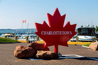 Charlottetown sign in the shape of a maple leaf