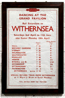 A poster advertising dancing at Withernsea Grand Pavilion.