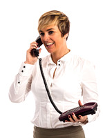 A business woman on phone