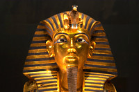 EW0503E-D01571 : The golden death mask of Tutankhamun, Cairo Museum