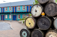 Beni, a teddy bear on top of some barrels, in Lerwick