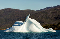 An iceberg in the fjord near Narsarsuaq