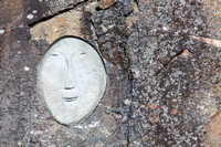 Face on the rock as part of the Stone & Man Sculpture