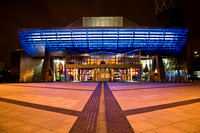 The Lowry centre at night