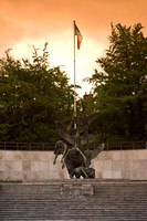 EX0518A-D01697 : Children of Lir, Sculpture in the Garden of Remembrance, Parnell Square, Dublin.