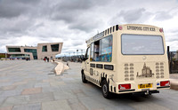 Ice cream van at pier head