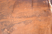 EW0511B-D02146 : Nabatean Writing of the rocks at Lawrence's Spring, Wadi Rum, Jordan