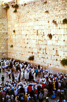 EM0713A-F00208 : Crowds at the Western Wall of the Temple (The Wailing Wall)