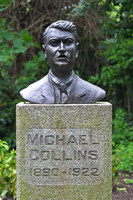 EX0518B-D01796 : Bronze bust of Michael Collins (1890-1922) who was involved in the 1916 uprising (Easter Rising).