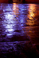 EY0118A-D00277 : Light reflecting on the wet paved area in front of Greaves Arms pub
