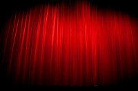 SALE Sale Date TBA: Red theatre curtains
