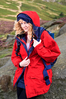 FB0902A-E05177 : Attractive blonde woman hill walking