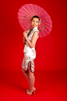 Chinese woman with paper parasol