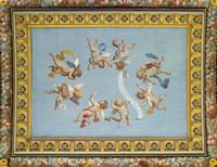 Cherubs painted on a ceiling