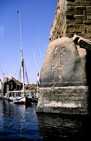 EV0327B-F01233 : Granite rocks of Elephantine Island with hieroglyphs carved on them.
