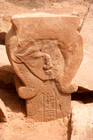 EW0506C-D01898 : A carving of the god Hathor at HathorTemple at Sarabit al-Khadim, Sinai, Peninsula, Egypt.