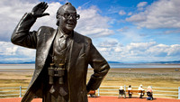 Statue of Eric Morecambe (of Morecambe and Wise) on the sea front
