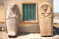 EW0504C-D01625 : Two stone coffin lids in Tanis
