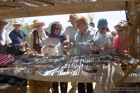 EW0505C-D01712 : Bedouin Traders at Ain Moussa - The Springs of Moses in Sinia