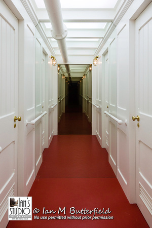 Recreation of a corridor for the Titanic exhibition