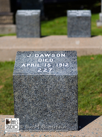 J Dawson - Titanic Grave Site at Fairview Law Cemetery