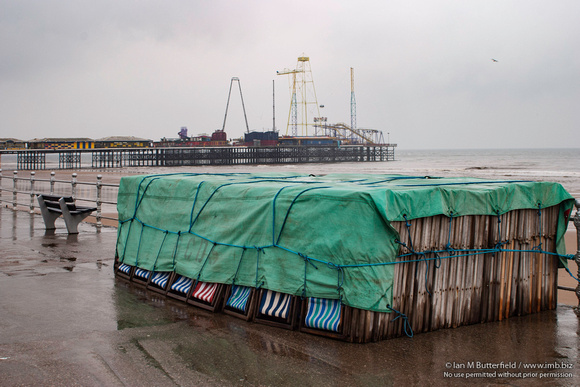 Deck chairs on Blackpool Prom