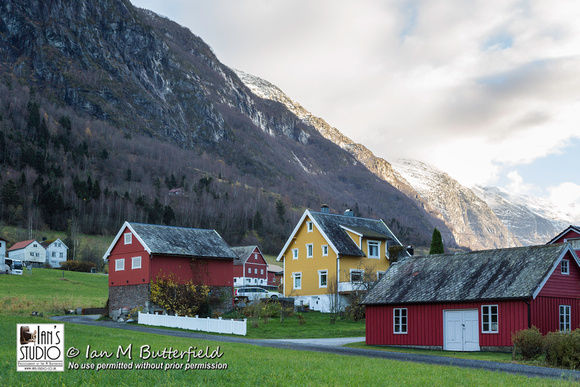 Traditional Norwegian houses in Olden