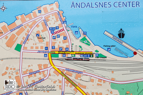 A map of Andalsnes centre