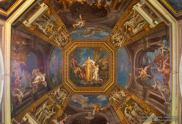 The ceiling of the Sala Delle Muse (Room of the Muses)