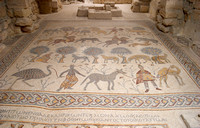 EW0514F-D02627 : Mosaics inside the church on Mount Nebo, Jordan, where Moses died having seen the Promised Pand.