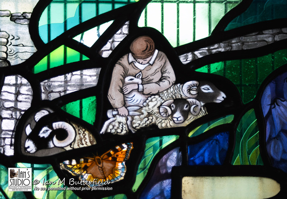 SALE 23 DEC 2016: Stained Glass Window detail, Stainforth – FIRST Sale