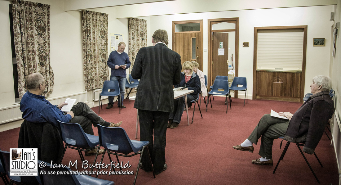 POTD (7 years ago today) 30 Jan 2008 : Woodford Players - Witness for the Prosecution - Rehearsal