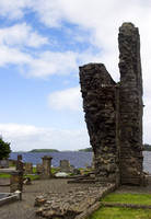 EX0526B-D02758 : Donegal Friary and cemetery overlooking Donegal Bay