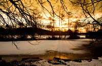 Winter sunset at Etherow Country Park.