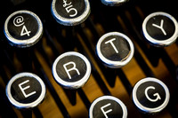 A typewriter keyboard