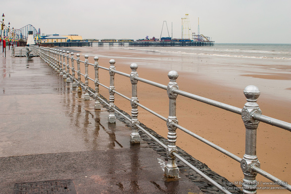 Blackpool Promenade in the Rain