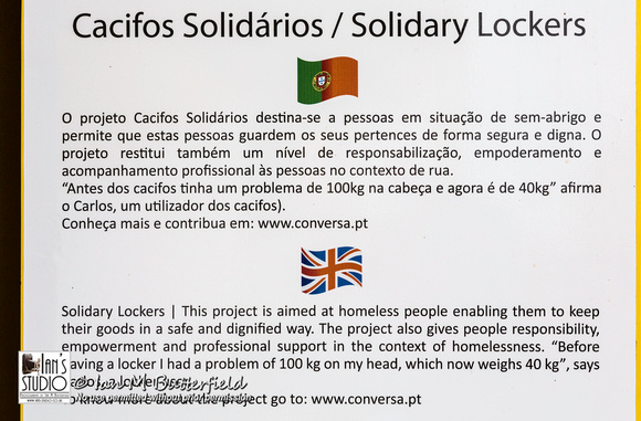 Lockers for the homeless information sheet