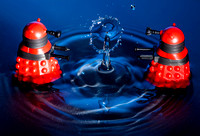 Water droplets and daleks