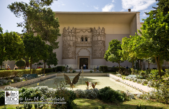 SALE 17 Nov 2014: Exterior view of the National Archaeological Museum, Damascus, Syria.