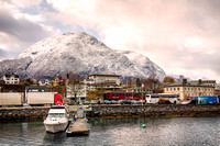 A view across Andalsnes harbour