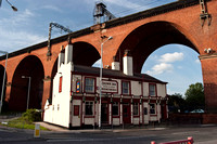 The Crown Inn and Viaduct, Stockport, Cheshire, UK