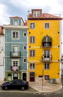 Colourful town houses in Lisbon