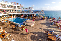 Deck party on the Marco Polo